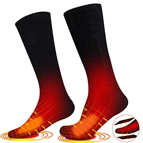 LiL DiHo 2020 Upgraded Rechargeable Electric Heated Socks,7.4V 2500mAh Battery Powered Cold Weather Heat Socks for Men/Women