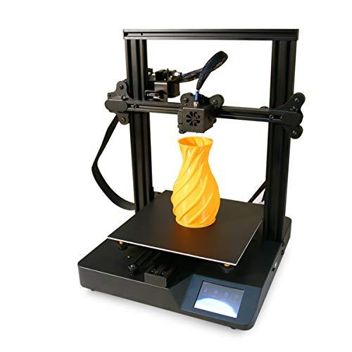Knoijijuo Bureau FDM imprimante 3D de 3,5 Pouces écran Tactile TFT avec Effet Bonne Dissipation Thermique, Support 7 Langues Commutation Libre