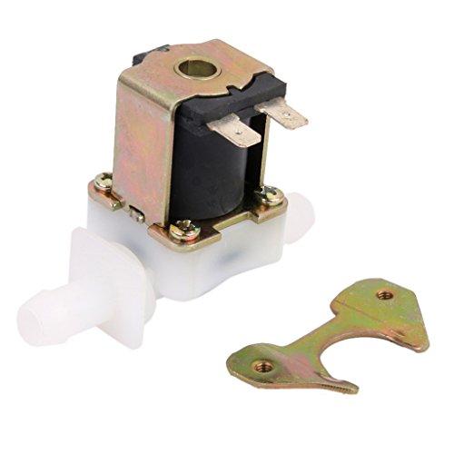 Amagogo - Electroválvula eléctrica magnética N/C para agua y aire de gas, entrada con interruptor de flujo CC 12 V