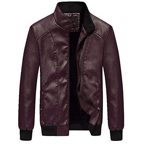 Abrigo de piel para hombre con felpa y abrigo grueso, entallado, para motocicleta real, chaqueta delgada, ropa casual para hombre