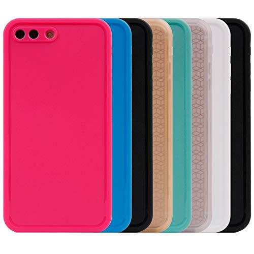 Wckxy Caja del teléfono for el iPhone Plus 8 y 7 del patrón Tridimensional Plus Diamond Life Impermeable de TPU + PC Protectora de la Caja st (Color : White)
