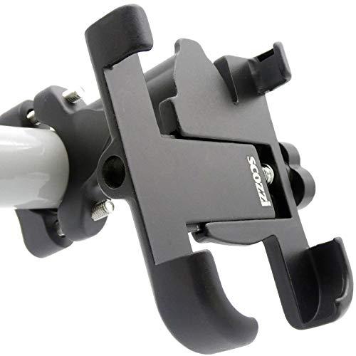 scozzi Universal Handyhalterung Fahrrad Alu Metall Handy Halterung Halter (kompatibel mit Samsung,iPhone) S21 S20 S10 S9 A71 A70 A51 A50 A40 A30s M51 M40 A7 A5 12 11 X XS XR 8 Pro Plus Mini Max Ultra