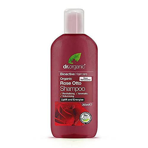 dr organic - Rose Shampoo   Natural & Organic   Hypoallergenic Hair Shampoo   Nourishes Damaged Hair   Made for Daily Use   Alcohol-free, Paraben-free & Sulphate-free Hair Shampoo   Cruelty-free   256mL