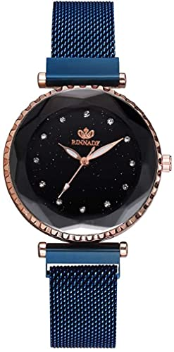 JZDH Mano Reloj Relojes de Mujer Relojes de Pulsera Reloj de Hombre Moda Moda de Moda Banda de aleación Reloj de Cuarzo Dial Redondo Reloj Casual Reloj Azul Relojes Decorativos Casuales