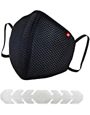 Scott International CoroShield SN95 Cloth Face Mask for Virus, Bacteria, Dust & Pollution Protection, Adjustable earloops/Nose Clip, Reusable & Washable, With Extenders; SITRA Approved (Pack of 1)