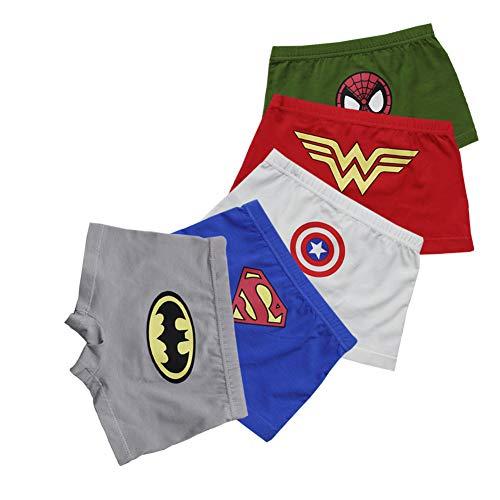 FORUSKY 5er-Pack weiche atmungsaktive Unterwäsche für kleine Kinder, Kleinkinder, Jungen, Boxershorts Gr. 98, 5er Pack C