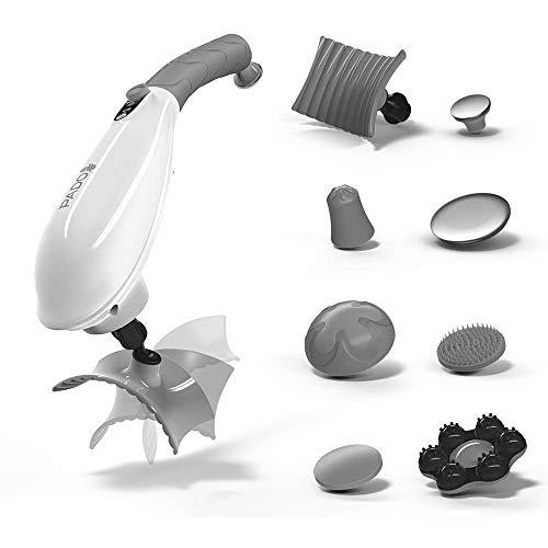 PADO CM-07 Dual Motor Percussion + Vibration Therapy Massager (White) | Official Patented CM-07™ | Treat pain for back, sciatica, neck, leg, foot, plantar fasciitis, tendinitis, arthritis, sports