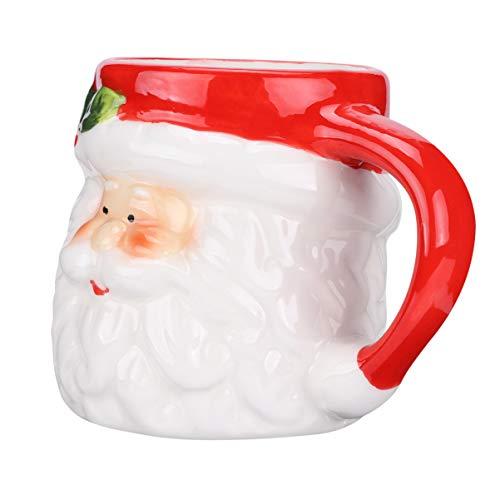 VALICLUD Taza de Café de Navidad Santa Claus Taza de Cerámica Taza de Té de Navidad con Tapa para Fiesta Amigos de Navidad...