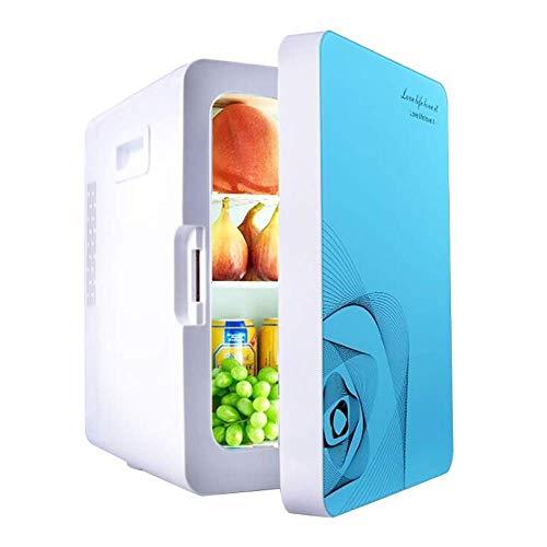 AOLI 20L Autokühlschrank Auto Dual-Use Tragbare Einzeltür Kleine Gefriertruhe Doppelte Kühlung für Heim, Büro, Auto, Wohnheim Kompakt Tragbar - Wechselstrom- und Gleichstromkabel,Blau