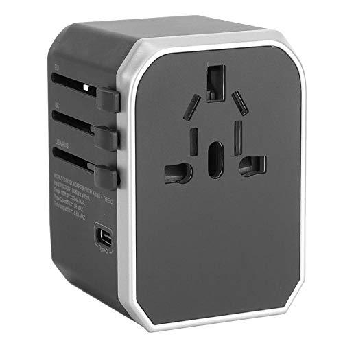 Universele reisadapterstekker Wereldwijd 4-poorts USB-wandoplader met stekker Type wisselstroomadapter Nieuw