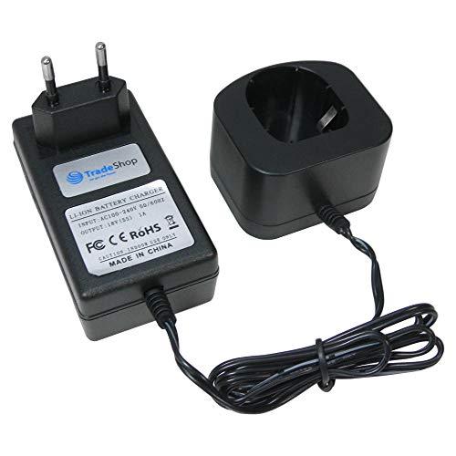 Trade-Shop Universal Akku Ladegerät (18V Li-Ion) Ladestation Schnellladegerät für Ryobi CID-1803L CID-1803M CID-182L CID-183L CJS-180L CJS-180LM CJSP-1801QEOM CMD1802 CJSP-180QEO CMD-1802M CMI-1802