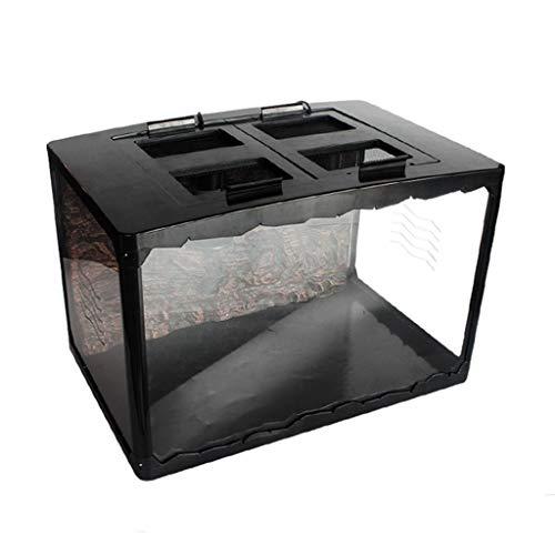 Vivarium Vitrine Lizards Cages Box, Verveelvoud Transport Klok Spin Lizard Slang schildpad houder ademende box Pet House