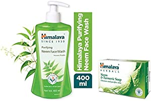 Himalaya Purifying Neem Face Wash + Purifying Neem Facial Wipes