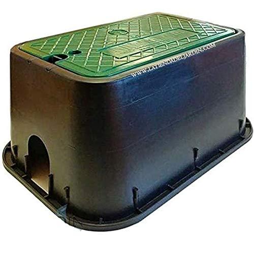 (PACK ahorro 4 arquetas) ARQUETA de RIEGO RECTANGULAR estandar 49x35x22 cm. Utilizada para proteger los elementos de riego.