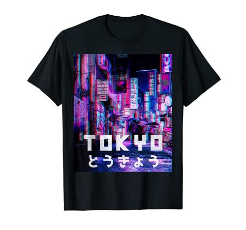Tokyo Japon Aesthetic Style Japonais Esthétique Vaporwave T-Shirt