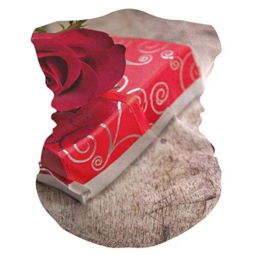 NA Écharpe de Couvre-Chefs, Protection de Visage de Romance d'amour de Fleurs Rouges de Rose, Bandeau Solaire Occasionnel pour l'adulte, 25X50Cm