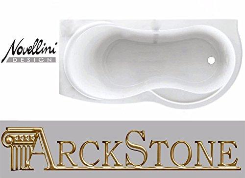 Du Venus Standard eingebaut 170x70H55cm Bauform links SX Möbel Badewanne Badezimmer Waschküche Eck eckig Asymmetrische Kurve Rund Halbrund wirtschaftliche Schale Traditionelle Acryl weiß glänzend