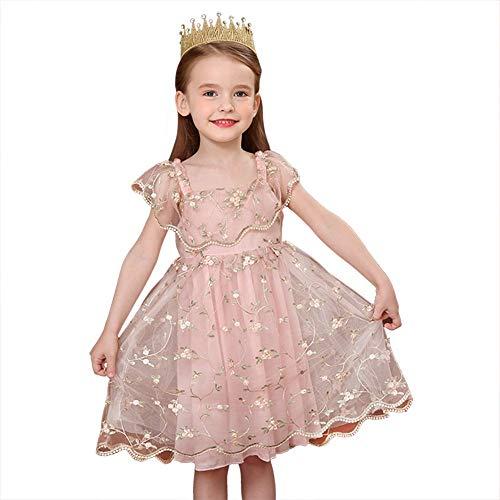 Zhao Li Kostuums Baby Meisjes Roze Prinses Verjaardag Jurk Feestjurken met Bloem dansen unifom