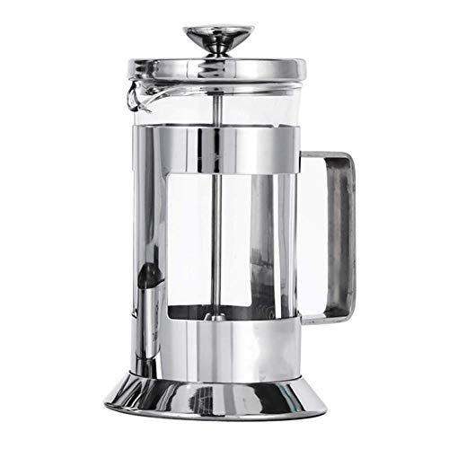 XXDMZ Best Manual Coffee Espresso Maker Pot Stainless Steel Glass Teapot French Coffee Tea Percolator Filter Press Plunger, 350ML