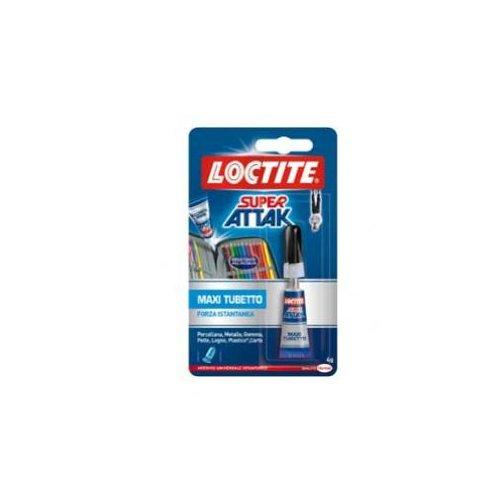 Loctite Super Attak Original, colla liquida trasparente in confezione convenienza, colla resistente per gomma, metallo, ceramica, legno, cuoio, pelle, 1x4g