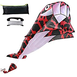 top 10 cheap stunt kite Dolphin Kite Adult Kite Reel Kite 3D Kids Kite Beach Sky Whale…