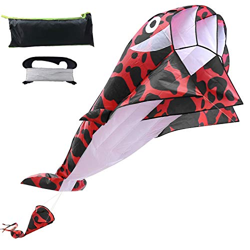 top 10 cheap stunt kite Dolphin Kite Adult Kite Reel Kite 3D Kids Kite Beach Sky Whale…