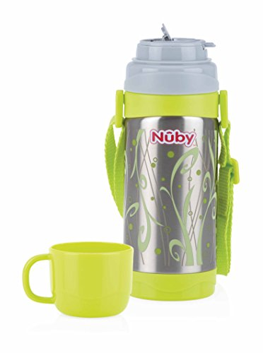 Nuby(ヌービー)Clik-it ステンレス・ストラップ&コップ付ボトル