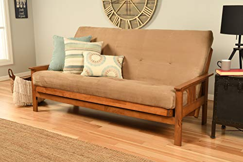 Kodiak Furniture Monterey Futon, Drawers, Suede Peat Mattress
