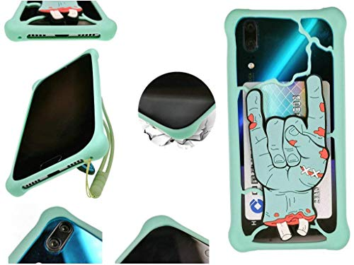 Huayijie Silicona Funda para Cubot X20 Pro R19 J7 J5 Quest Lite MAX 2 R15 X19 A5 King Kong 3 J3 Nova Power P20 R11 X18 Plus H3 Note Magic R9 Rainbow Cheetah Manito Z100 Echo X16 S Dinosaur LSZ