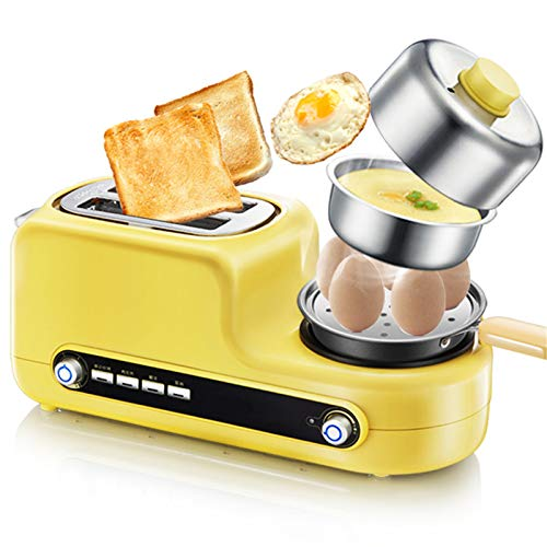 Brotbackautomat Kompaktes Design Edelstahl Küchengeräte Hausgemachtes Sandwich für Brot, Kuchen,Nudelteig und Marmeladen Safe ungiftig Antihaftbeschichtung