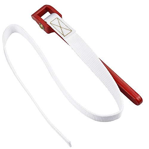 CODIRATO Strap Wrench Nylon Bandschlüssel Einstellbar Ölfilter Spanner Gurtschlüssel mit rutschfestem Griff zum Öffnen von Filtern, Rohren