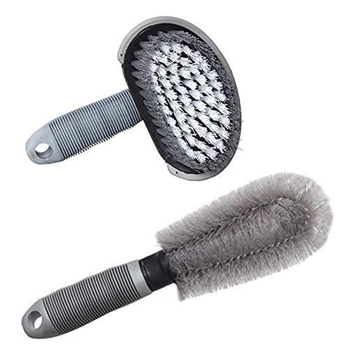 Cepillos Limpieza Coche, Limpieza neumáticos de automóviles, limpiador de llantas cepillos de neumáticos y ruedas aleación de automóviles, Herramienta lavado de neumáticos motocicletas (Paquete 1)