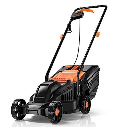 Lawn Mower, 1200W 14-Inch Electric Lawn Mower, 32 cm Cutting Width with 3...