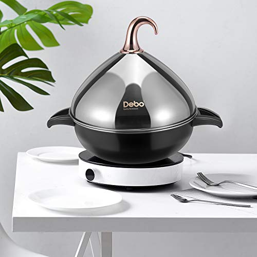 Vogvigo Stainless Steel Moroccan Tagine Pot for Cooking Cast Iron Tagine Cooking Pot with Lid
