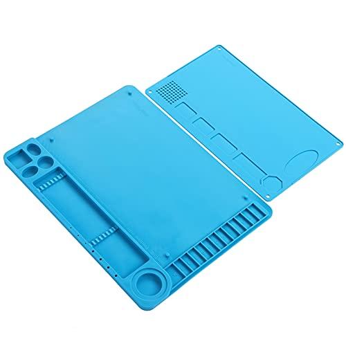 Almohadilla de silicona con calor magnético, herramientas de reparación de teléfonos con alfombrilla de soldadura de silicona para servicio de soldadura para almohadilla de escritorio de