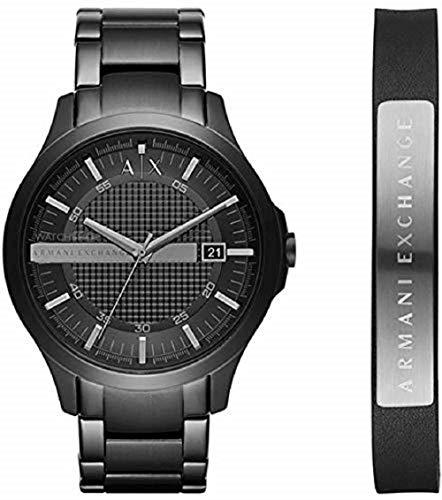 Emporio Armani Herren Analog Quarz Uhr mit Edelstahl Armband AX7101