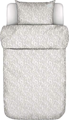 Marc O?Polo Vau Oatmeal - Juego de Cama (135 x 200 cm + 80 x 80 cm, 100% algodón, percal)