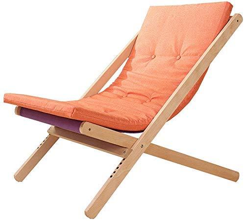 Tumbonas Silla de Playa Silla Plegable sillón sofá de Playa balcón Dormitorio Ocio 4 Colores Sin reposapiés (Color: A)