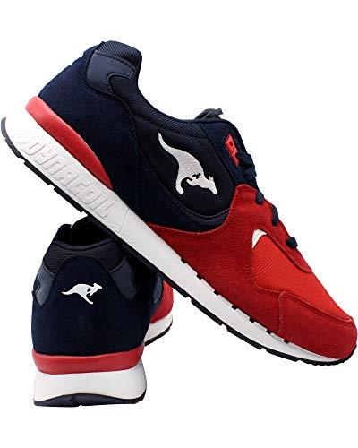 KangaROOS Mens Racer 2 Sneaker,Navy/RED/White,9.5