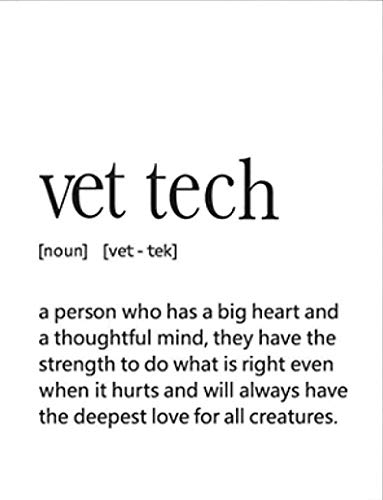 Vet Tech Gift Veterinary Technician Definition Quote Prints Art Poster Canvas Art Poster and Wall Art Picture Print Modern Family Bedroom Decor Posters 24x36inch(60x90cm) UnFrame