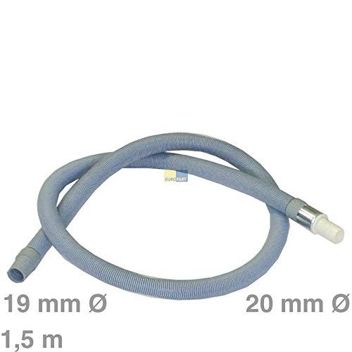 LUTH Premium Profi Parts Extensión de la Manguera de desagüe Universal 1,5m lavavajillas para Lavadora Recta/Recto