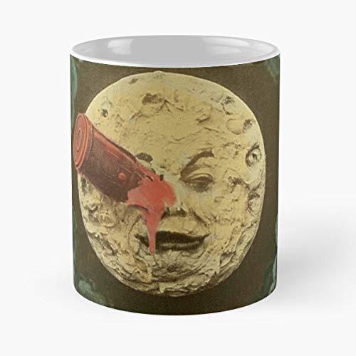 OriginalFavorites Lune France George French La Melies Georges Dans Moon Voyage Trip Taza de café con Leche 11 oz