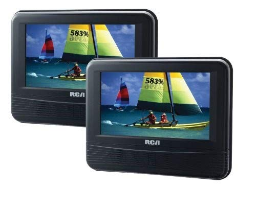 RCA DRC69705 7-Inch Dual Screen Mobile DVD System (Renewed)