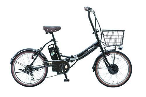 PELTECH(ペルテック) 折り畳み電動アシスト自転車 20インチ折り畳み外装6段変速 【簡易組立必要品】(TDN-206) ペルテック(Peltech) (ブラック)