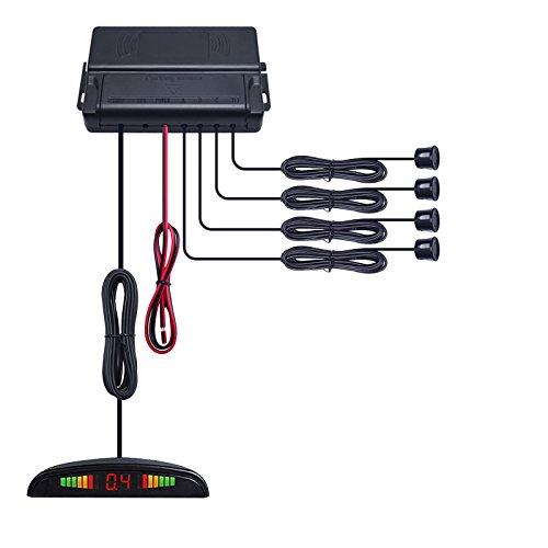 Find Discount FEELDO Car LED Display 4 Sensor Parking Reverse Backup Radar System ([green])
