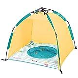 LUDI Planschbecken und Strand UV-Schutz Zelt mit Schnellöffnung Wind- und Sonnenschutz | Leicht und kompakt | Einfache Aufbewahrung mit Tragetasche | UV Schutzhaube SPF 50+ | Ab 10 Monaten