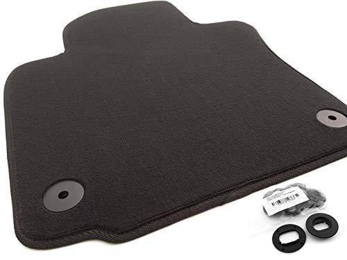Fußmatte passend für Golf 5 6 Velours Automatte Fahrermatte Fahrerseite vorn schwarz inkl. Befestigung