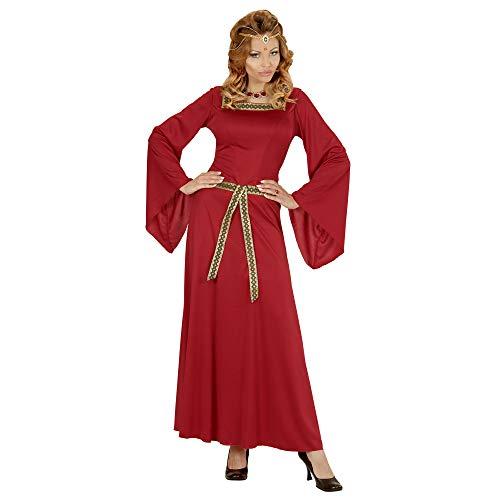 Widmann 03133 - kostium dla dorosłych frez zamkowy, sukienka, czerwony, rozmiar L