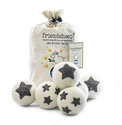 Friendsheep palle asciugatrice lana organica Eco - qualità Premium Pack 6-100% Handmade, Fair Trade, organico, nessun residuo di stoffa-