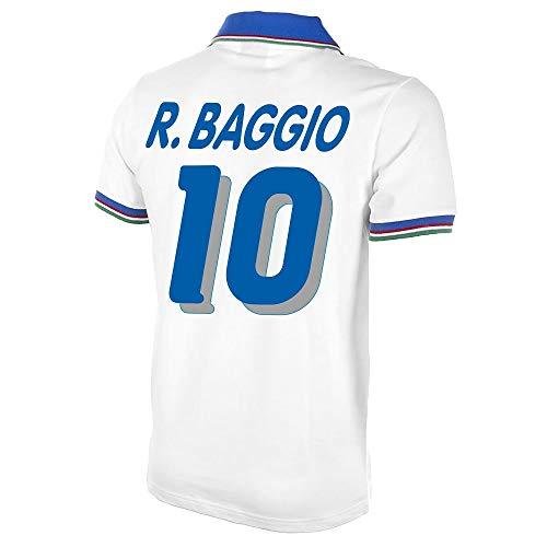 Copa Italien Away R.Baggio 10 Retro Trikot 1982 (WM ?94 Retro Flex Beflockung) - S